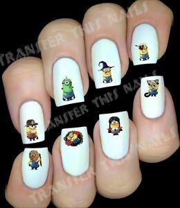 MINION moi moche et méchant halloween Stickers ongles manucure nail art déco