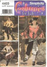 OOP Girls Pirate Costume PATTERN Simplicity 4469 Caribbean Sailor 7-14 Colonial