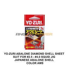 1X YO-ZURI ABALONE DIAMOND SHELL SHEET FOR #2.5-4.0 SQUID JIG COLOR AMS