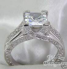 2.54ct Princess Cut  Engagement/Anniversary Ring, Sz 9