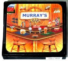 MURRAY BAR NAME SET OF 6 CORK BACKED COASTERS