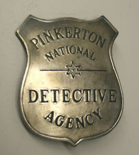 Reproduced Old Time <> Pinkerton National Detective Badge <> Shield Style