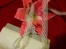 mercerie anciennefine ,dentelle coton  blanche 3mx2cm