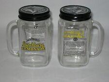 2 Jack Daniels Lynchburg Lemonade Mug gelb mit Schraubdeckel Glas Krug Gläser