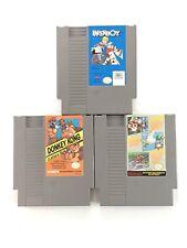 Nintendo NES 3 Games Paperboy Donkey Kong Super Mario Duck Hunt Track Meet