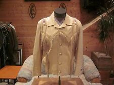"Vintage Handcrafted Leather Jacket ""Nice"" Look!"