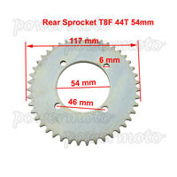 T8F 44Tooth 54mm Rear Sprocket For Gas Scooter Petrol Goped Pocket Mini Bike