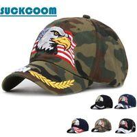Men's Baseball Cap 3D USA Eagle&Flag Embroidered Hat Women Hip Hop Snapback Hats
