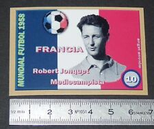 FRANCE ROBERT JONQUET STADE REIMS COUPE MONDE FOOTBALL 1958 STYLE PANINI