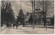 1907 Milford PA Mid Winter View of the Inn Sleigh Percy Lyman DB RARE Postcard