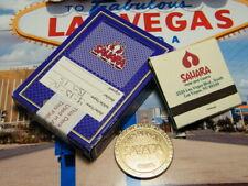 Sahara Casino Las Vegas $1 Slot Token Casino Used Cards & Matchbook (Purple)