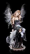 Figura Elfos Grande - RUTI Sentado Con Dragón - FANTASY Hada Ángel Estatua