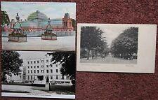 3x Cheltenham Gardens Promenade Hotel Vintage Postcard Cotswolds Gloucestershire