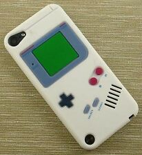 For iPod Touch 5th / 6th Gen - White Gameboy Player Soft Rubber Silicone Case