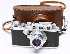NICCA IIIA 35MM FILM LEICA LTM RANGEFINDER COPY No. 42161 + FED 50mm f/3.5 LENS