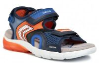 GEOX RESPIRA FLEXYPER J029DB scarpe bambino ragazzo sandali pelle tessuto led