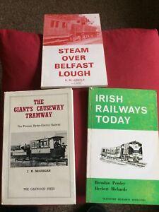 vintage Irish railway book.3; Irish Railways,Giants Causeway tram,Steam Belfast