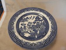 "Set of 10 Churchill Blue Willow China Dinner Plates 10.25"" Diameter England"