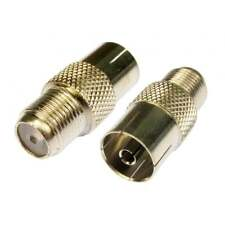 F-Type Coaxial Female to RF TV Aerial Female Adapter Satellite Coax Connector