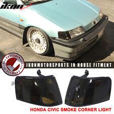OEM 88-91 Honda Civic 5Dr Wagon Only Corner Lights Lamp Pair- Smoke