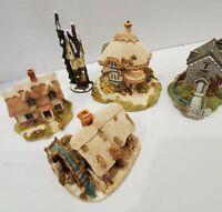 Four Miniature Houses Lilliput Lane + Ganz Ash Nook/Titmouse /Watermill /Helmere