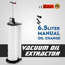 Manual 6.5L Oil Changer Fluid Extractor Pump Muti-size Vacuum Great Promotion