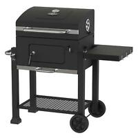 BBQ Charcoal Grill Smoker Outdoor Pit Patio Cooker Heavy Duty 24-Inch Black New