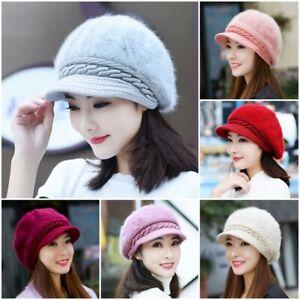 Fashion Women Winter Warm Knitted Beret Beanie Hat Ladies Crochet Ski Cap XMAS