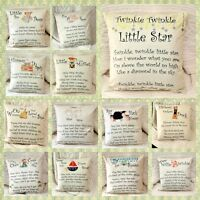 Nursery rhyme baby room children poem Cushion Cover Pillow Case Home Decor Gifts