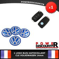1 Logo Embleme Sticker autocollant bleu Clé Remote Key VW Volkswagen 14mm