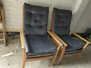 Set of 2 Cintique Fireside Chairs Upcycle Project