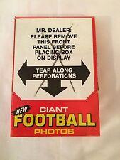 1980 Topps Football Giant Unopened Box 48 Photos Walter Payton Bradshaw Stabler