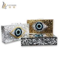Women Evening Bags Clutches Eyes Shiny Wallet Shoulder Bag Handbags Chain Purse