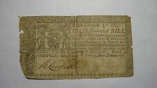 1767 $8 Annapolis Maryland MD Colonial Currency Note Bill! Eight Dollars! RARE