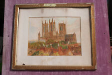 Watercolour painting of Lincoln Cathedral.