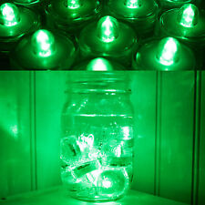 Submersible Waterproof Battery LED Tea Light ~ Wedding Decoration~Green~ 12 Pack