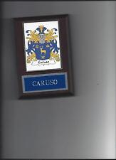 CARUSO FAMILY CREST PLAQUE COAT OF ARMS GENEALOGY ASK FOR YOUR NAME