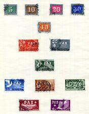 SCHWEIZ 1860-1980 meist gestempelte SAMMLUNG + gute AUSGABEN (V8826d
