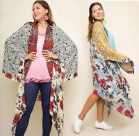UMGEE Open Front Maxi Kimono Cardigan Duster Boho Print Loose Flowy Long Jacket
