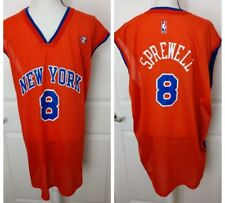 2c0957d2b LATRELL SPREWELL Mens Vintage 90s Champion New York Knicks Basketball Jersey  XXL