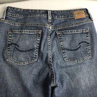 Levis Signature Misses Size 8 Mid Rise Bootcut Blue Jeans Denim