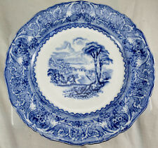 "Lake Blue & White 7"" Plate (Francis Morley c 1850?)"