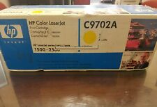 OEM Genuine HP C9702A HP 2500 Toner Cartridge Yellow Color LaserJet 1500 2500