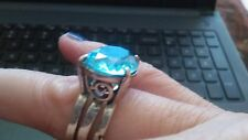 Blue Topaz and Sterling Silver Ring 7