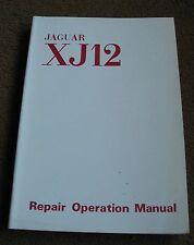 original JAGUAR XJ 12  WORKSHOP MANUAL 1972 excellent c d e type PARTS