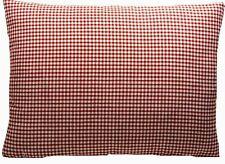 Red Checks Cushion Cover Ian Mankin Woven Cotton Fabric Rectangle 40x30