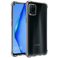 Hülle für Huawei P40 Lite Schutzhülle Anti Shock Handy Case Transparent Cover