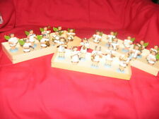 ERZGEBIRGE, 3  NICESETS OF ANGELS, MUSIC BANDS, WOODEN PRE 1990 SOME  PAINT LOSS