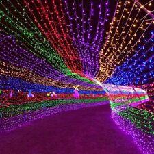 Christmas Outdoor Light 100M LED Street Garland Fairy String Lights Decor Garden