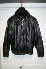 WILSON MENS LEATHER COAT LINED SIZE XL EUC